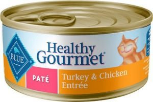 Blue Buffalo Healthy Gourmet Pate Turkey & Chicken Entree Adult Canned Cat Food
