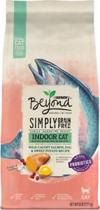 Purina Beyond Simply Indoor Wild-Caught Salmon, Egg & Sweet Potato Recipe Grain-Free Dry Cat Food