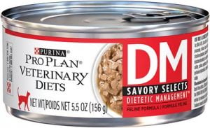 Purina Pro Plan Veterinary Diets DM Savory Selects Dietetic Management Formula Canned Cat Food