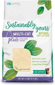 Sustainably Yours Natural Sustainable Multi-Cat Litter, 13 lbs