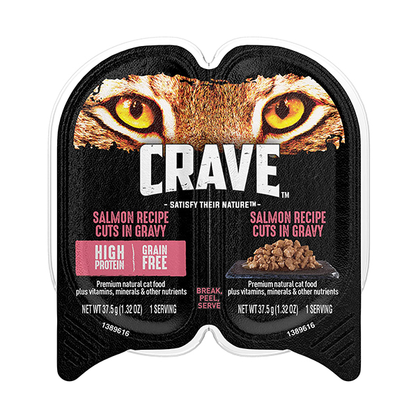 Crave Salmon Pate Grain-Free Cat Food Trays