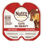 Nutro Perfect Portions Grain-Free Cuts in Gravy Beef Recipe Cat Food Trays, 2.65-oz, case of 24 twin-packs