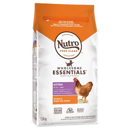 Nutro Wholesome Essentials Chicken & Brown Rice Recipe Kitten Dry Cat Food