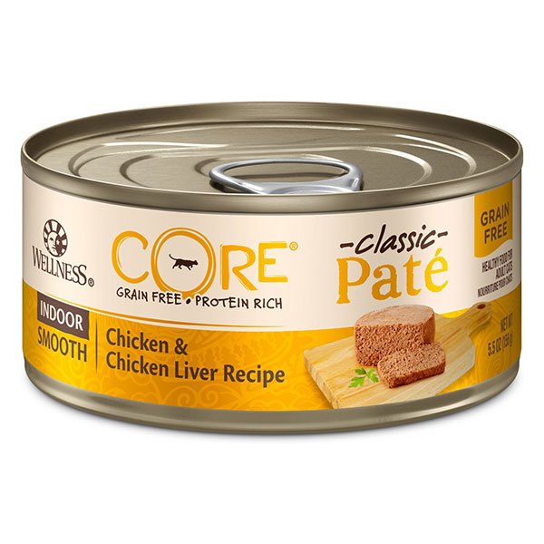 Wellness CORE Grain-Free Indoor Chicken & Chicken Liver Recipe Canned Cat Food