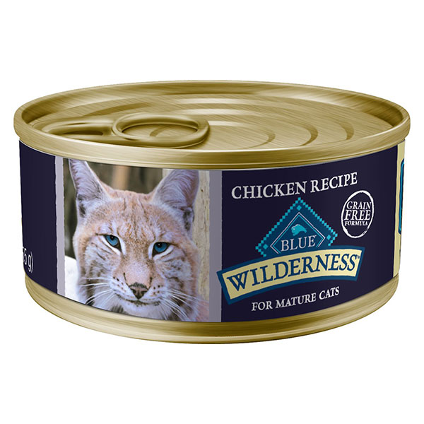 Blue Buffalo Wilderness Mature Chicken Recipe Grain-Free Canned Cat Food