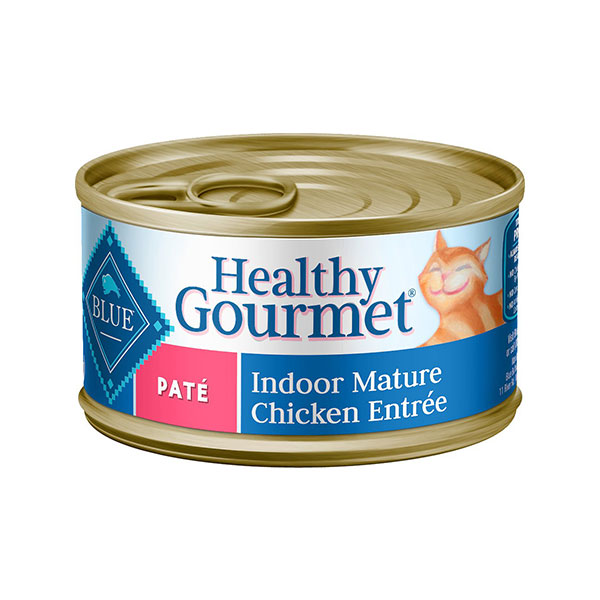 Blue Buffalo Healthy Gourmet Pate Chicken Entree Indoor Mature Canned Cat Food