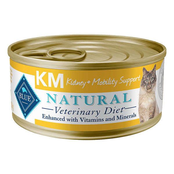 Blue Buffalo Natural Veterinary Diet K+M Kidney + Mobility Support Grain-Free Canned Cat Food