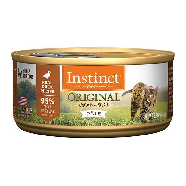Instinct Original Grain-Free Pate Real Duck Recipe Wet Canned Cat Food