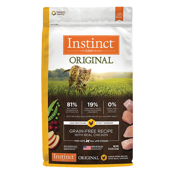 Instinct Original Grain-Free Recipe with Real Chicken Freeze-Dried Raw Coated Dry Cat Food