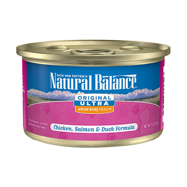 Natural Balance Original Ultra Whole Body Health Chicken, Salmon & Duck Formula Canned Cat Food