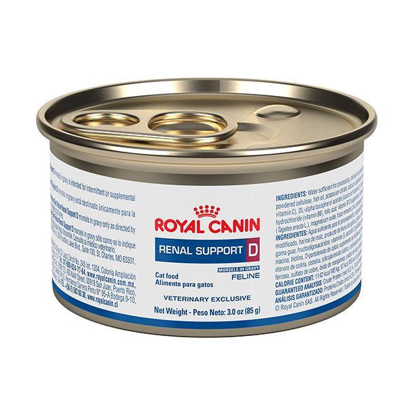 Royal Canin Veterinary Diet Renal Support D Morsels in Gravy Canned Cat Food