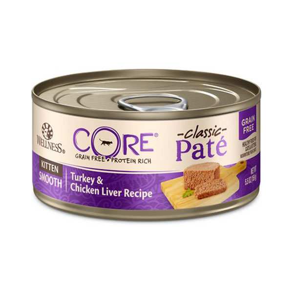Wellness-CORE-Natural-Grain-Free-Turkey-Chicken-Liver-Pate-Canned-Kitten-Food