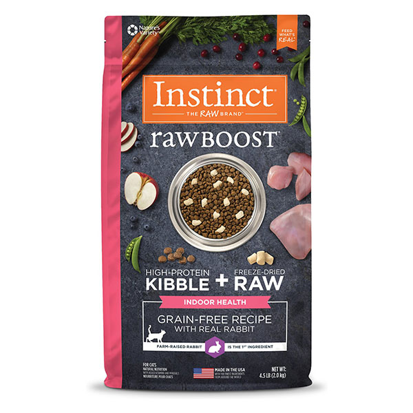 Instinct Raw Boost Indoor Grain-Free Recipe with Real Rabbit & Freeze-Dried Raw Coated Pieces Dry Cat Food
