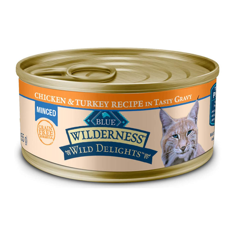 Blue Buffalo - Wilderness Wild Delights Chicken & Turkey in Tasty Gravy Grain-Free Canned Cat Food